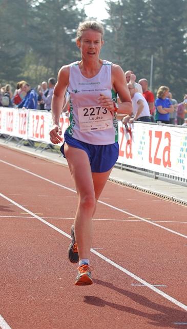 Louise aan het hardlopen
