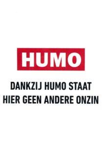 Dankzij Humo staat hier geen andere onzin