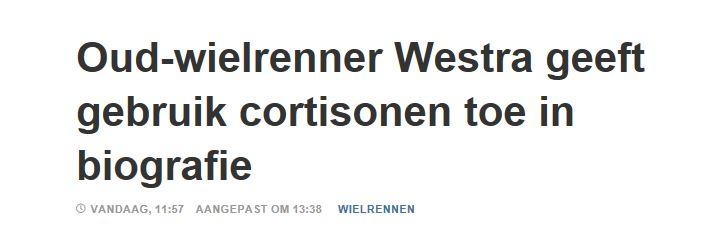 Westra geeft cortisonen toe